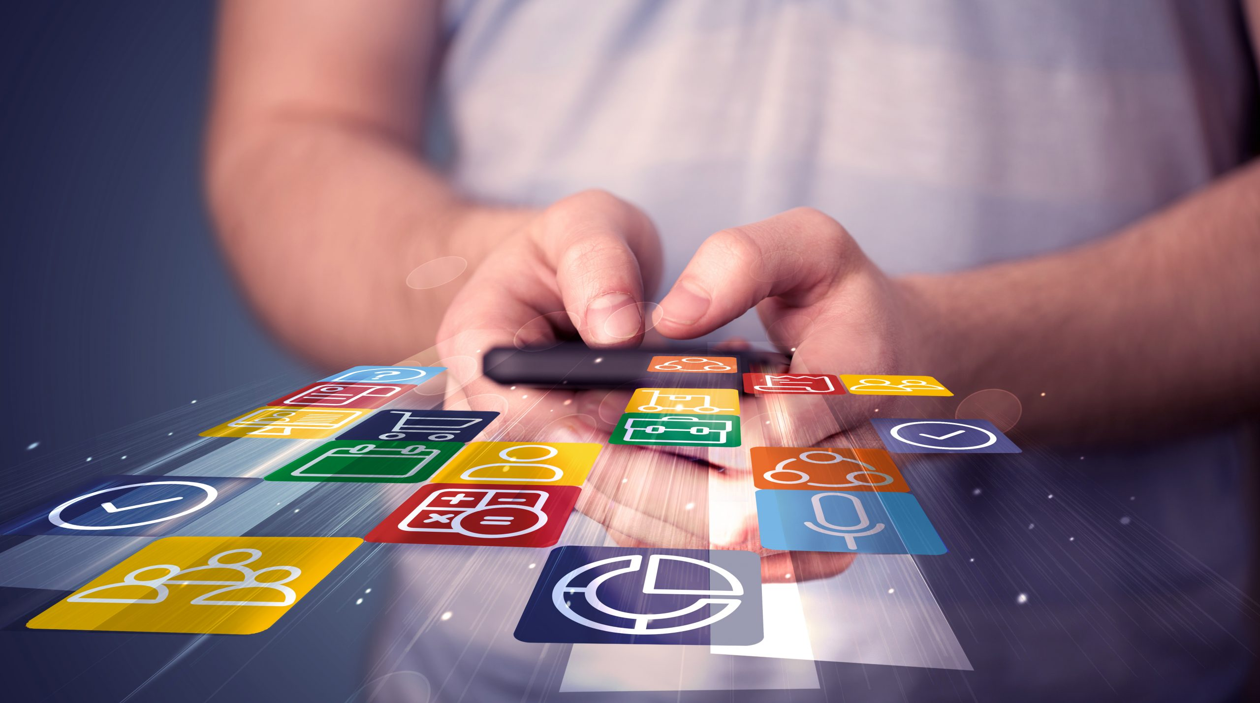 Business management software features available on your phone via the jobmate app